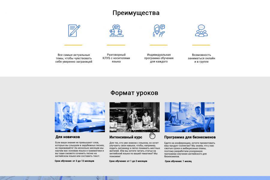 Веб-дизайн lending page 10 000 руб. 14 дней.