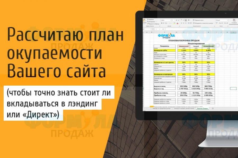 Рассчитаю медиаплан по продвижению сайта через Директ за 1 день 500 руб. 1 день.