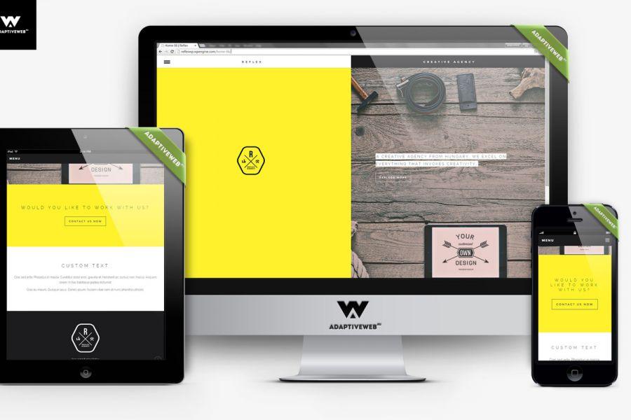 Разрабатываем сайты с адаптивным веб-дизайном под все устройства! 30 000 руб. 5 дней.