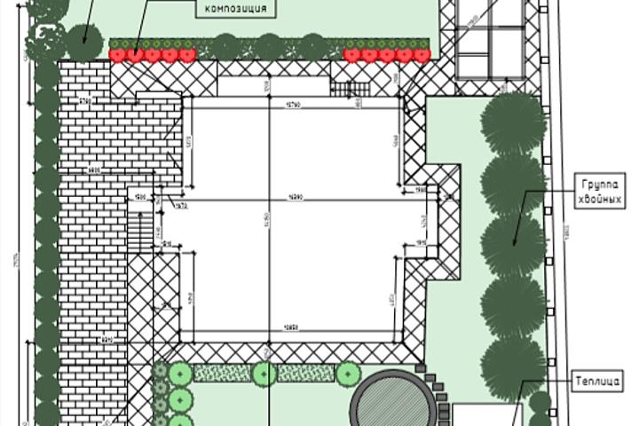 Генеральный план благоустройства участка в Archicad - 1042173