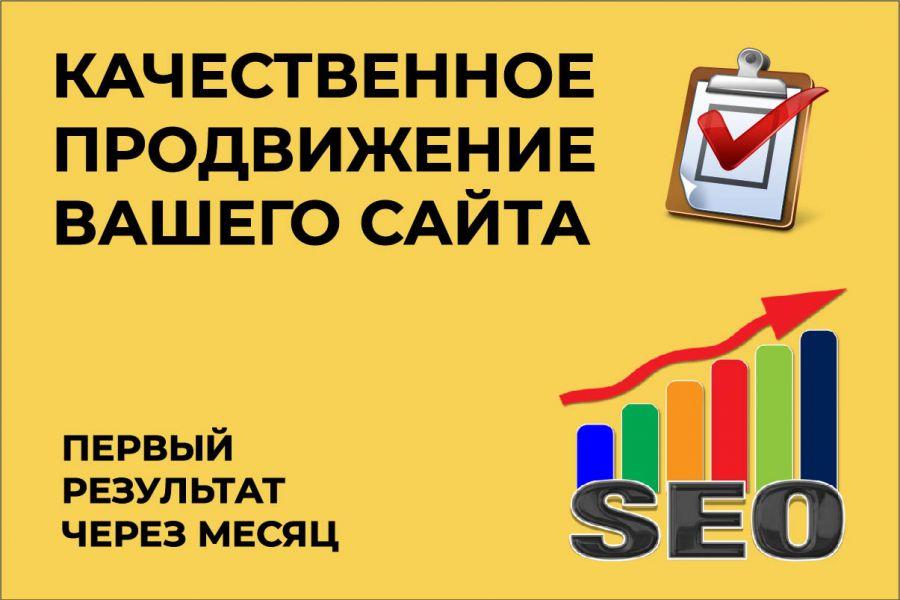 Поисковое SEO продвижение сайта 10 000 руб. за 30 дней.