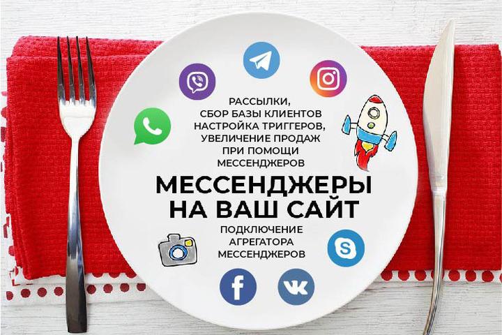 Агрегатор мессенджеров на ваш сайт - Whatsupp, Telegram, Viber, - 1052248