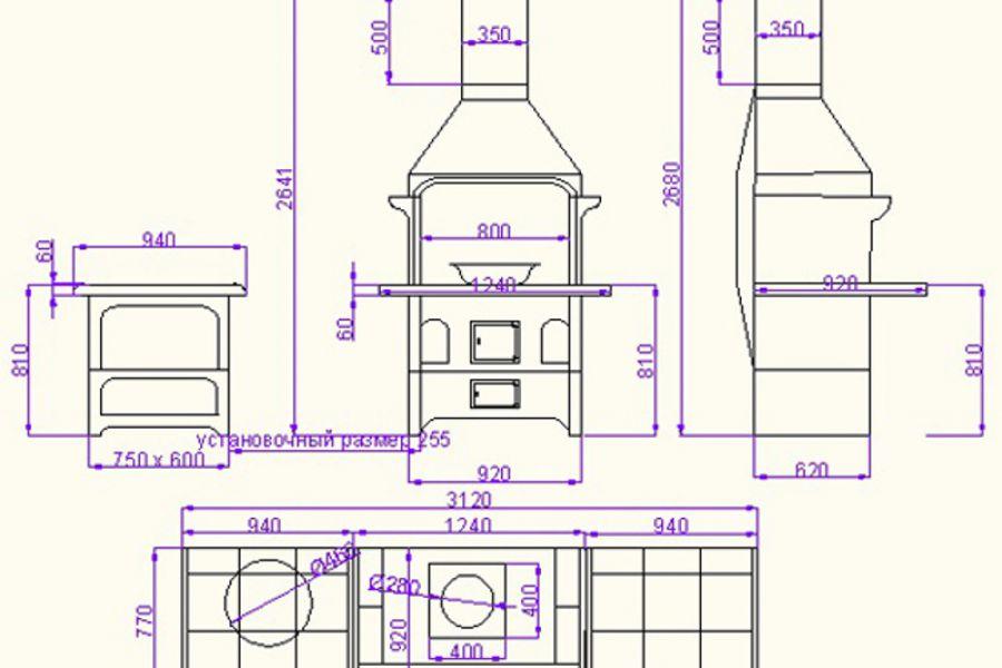 Проектирование барбекю комплексов 10 000 руб. за 8 дней.