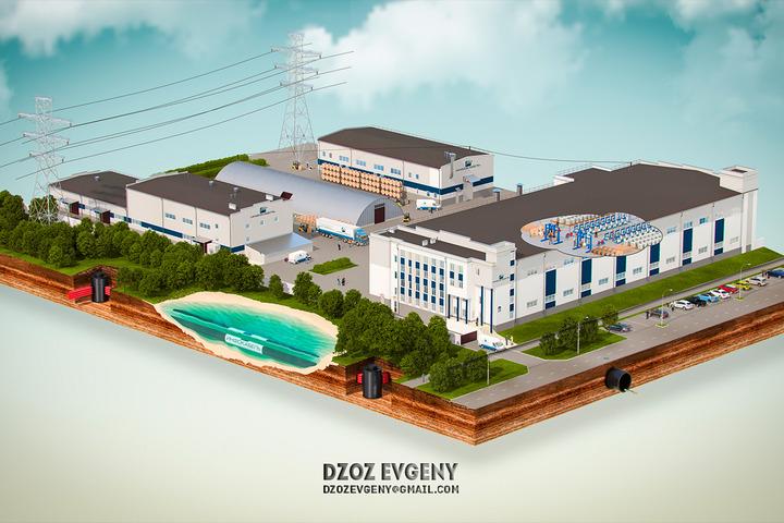 3D Визуализация планов строительства, застройки - 1071295
