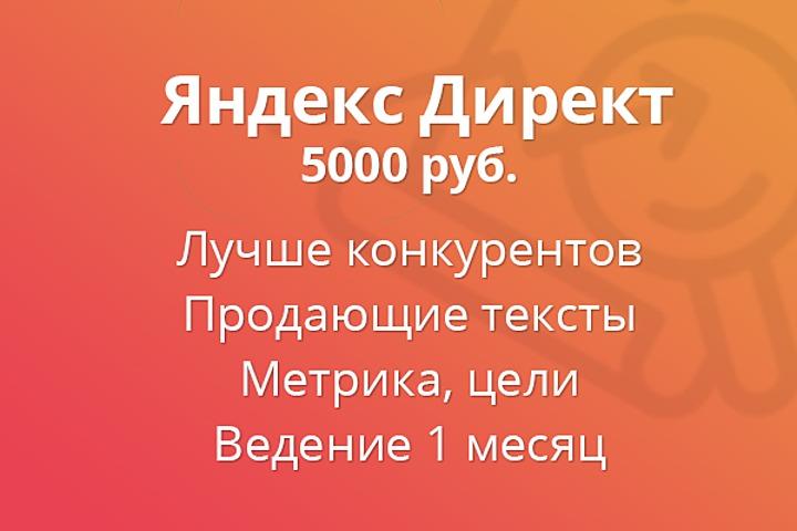 Настройка и ведение рекламы Яндекс директ - 1089674