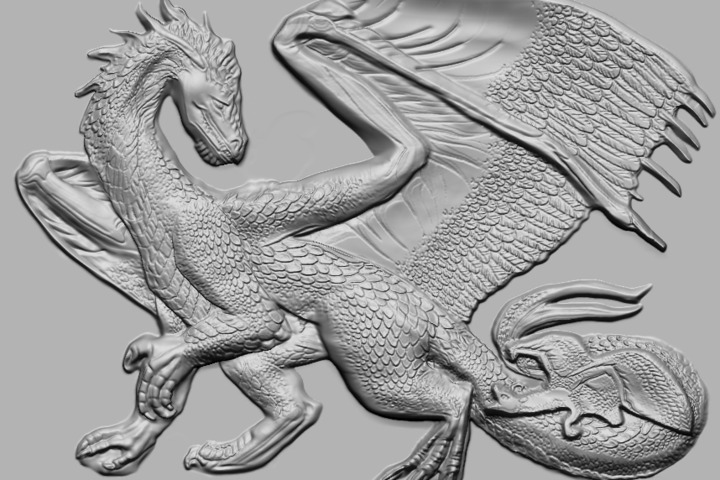 Создание 3D модели барельефа для 3D принтера  и ЧПУ - 1126668