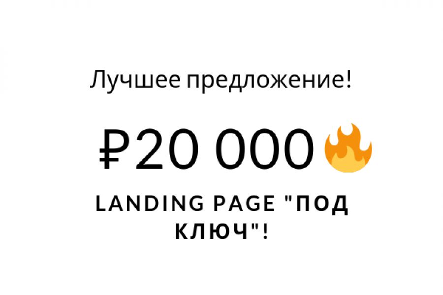 "Landing Page ""под ключ""! 20 000 руб. за 10 дней."