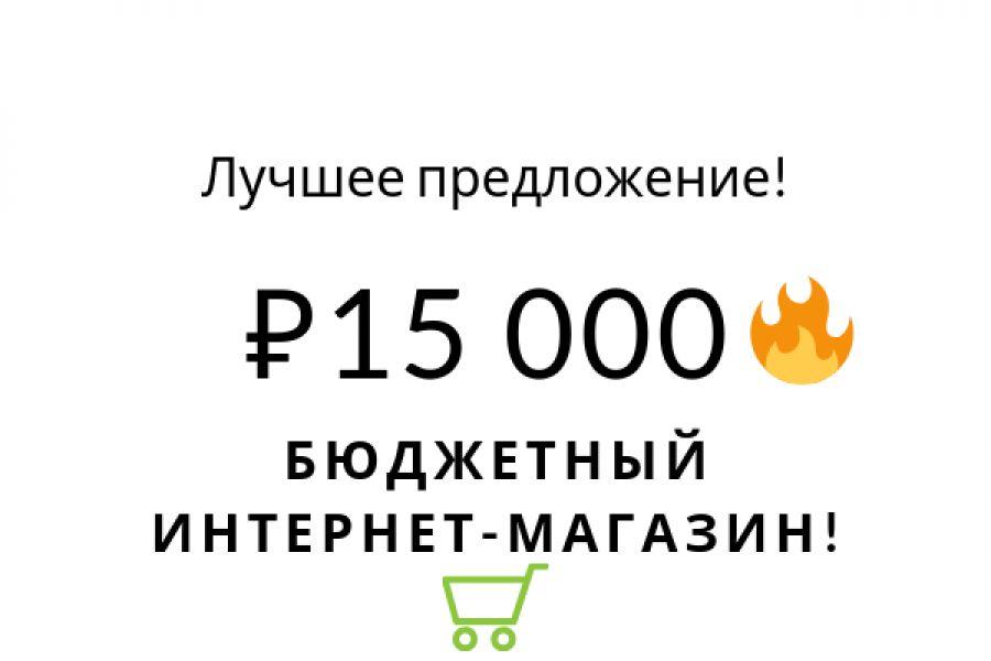 Бюджетные интернет магазины здесь! 15 000 руб. за 5 дней.