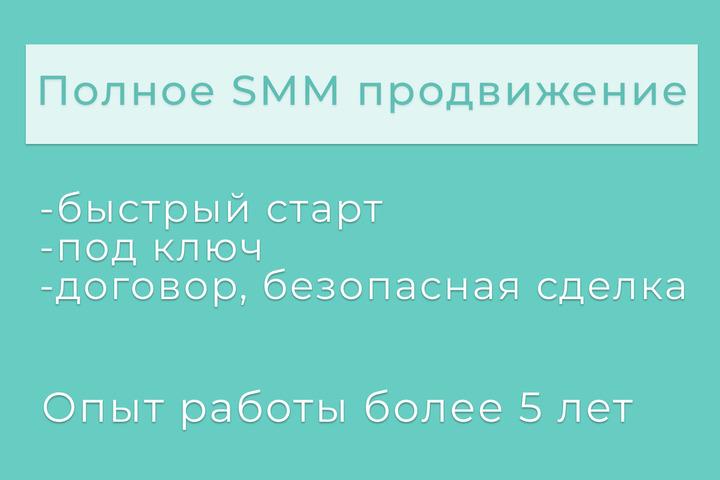 Полное SMM продвижение - 1145919