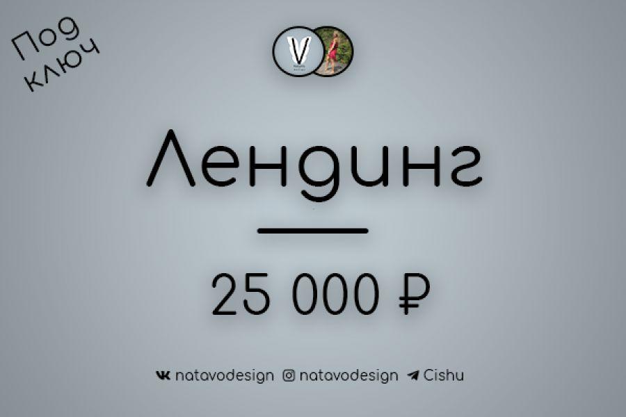 "Разработка лэндинга ""под ключ"" 25 000 руб. 20 дней."