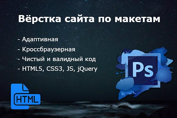 Вёрстка по макетам PSD, Figma. - 1200509