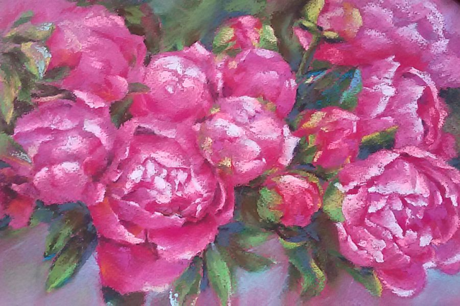 Продаю: Картина пастелью Пионы
