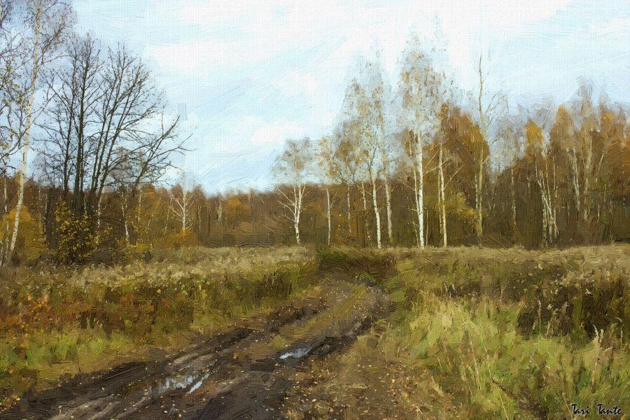 Продаю: Осенний пейзаж. Стилизация под масло