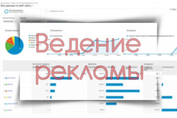 Ведение рекламных кабинетов Яндекс. Директ/Google Ads - 1348712