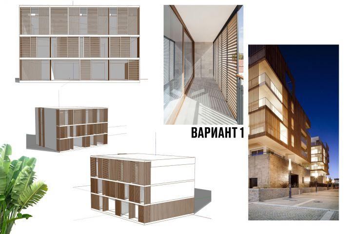 Архитектурная концепция. Варианты. - 1486837