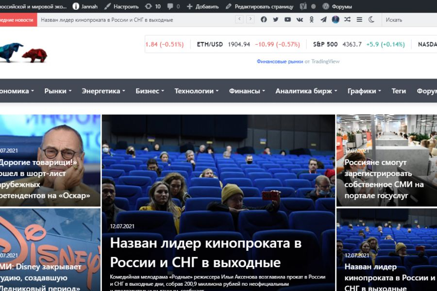 Продаю: Автонаполняемый сайт Новости экономики и бизнеса, на wordpress
