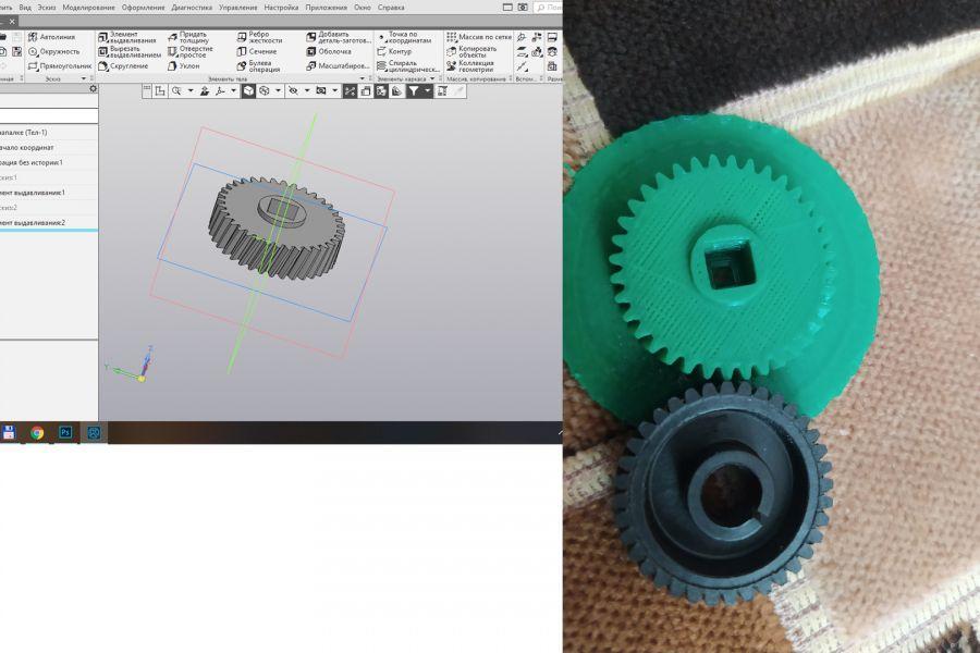 3D моделирование. 3D печать. Отливка из металла 1 руб. за 1 день.
