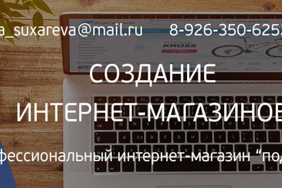 Создание интернет-магазина под ключ 35 000 руб. 14 дней.