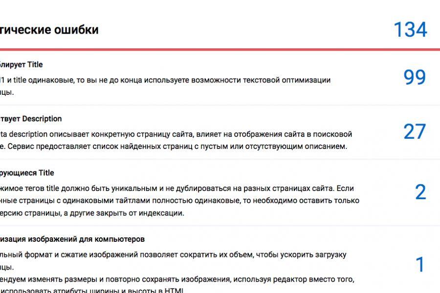 Технический аудит Вашего сайта 4 900 руб. за 1 день.