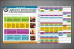 Информационная листовка с расписанием для йога-центра.