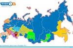Карта регионов России. Flash + XML