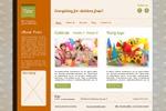 Веб-дизайн для фирмы, организующей детские праздники
