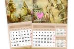 """Серия квартальных календарей для турагентства """"Розовый слон"""""""