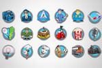Разработка серии иконок для мобильного приложения 128х128px