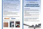 Проект «Цивилизованный строительный рынок»