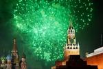 Новогодний салют на Красной площади