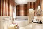Дизайн и визуализация ванной комнаты в стиле арт деко