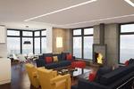 3d визуализация гостиной в ультрасовременном стиле