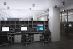 3d визуализация офиса в современном стиле