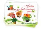 """Карманный календарь для магазина """"Жасмин"""""""