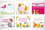 Поздравительные открытки для кампании APS