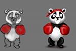 Панда боксер,иллюстрация для сайта