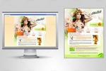 Концепт косметического сайта