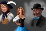 Эскизы персонажей для иллюстрации