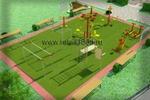 название работы: Моделинг и визуализация спортивных площадок