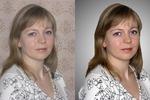 портретная ретушь, замена фона