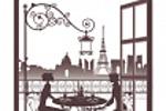 """Дизайн декоративной наклейки """"Окно в париж"""""""