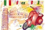 "Плакат ""VIVA ITALY"""