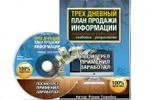 DVD Коробка Трехдневный план продажи
