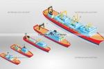 Отрисовка кораблей по фото, в одном масштабе и едином стиле