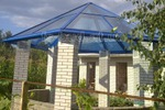Шестигранная крыша. Фото готового объекта.