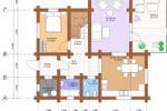 План-схема дома. Первый этаж.