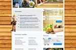Дизайн сайта интернет магазина сауны 1 вариант
