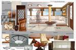 Карта подборки мебели и материалов для кают-компании на яхте