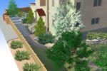 Проект озеленения частной территории, визуализация