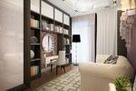 Дизайн кабинета-библиотеки в стиле арт деко